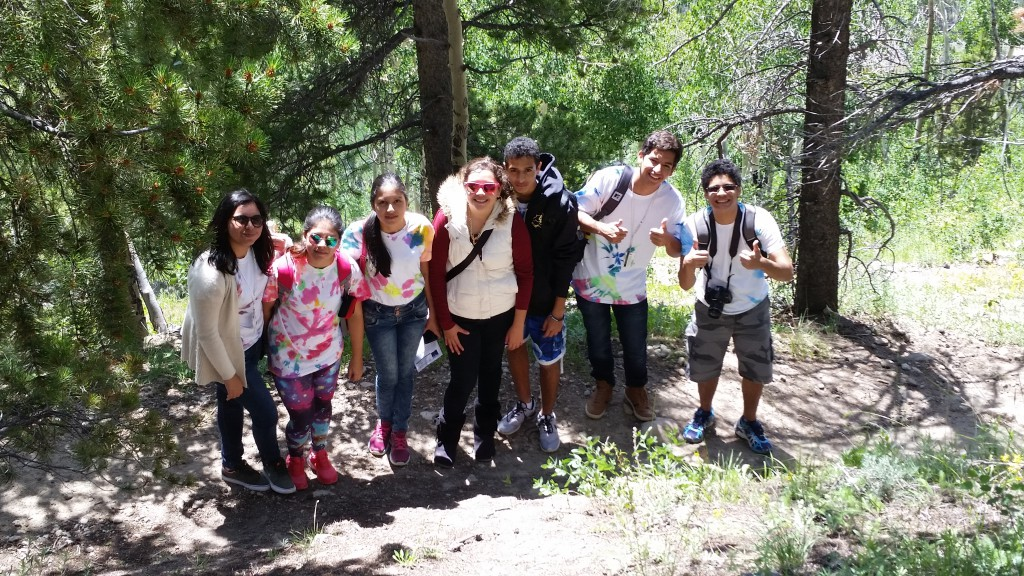2015 EducationUSA Academy Students enjoying a trip to Rocky Mountain National Park.