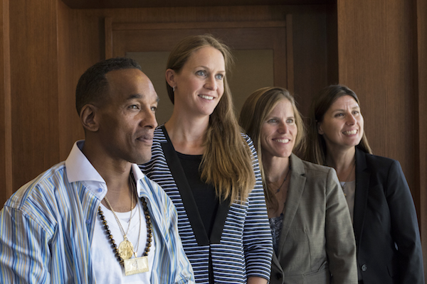 Corey Wise, wrongly imprisoned for the brutal rape of a NY City woman as part of the Central Park Five, speaks at the University of Colorado School of Law on September 10, 2015.