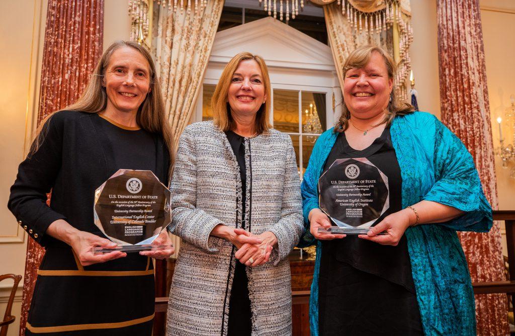 Recipients of the English Language Fellow Program University Partnership Awards